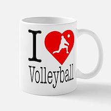 I Love Volleyball Mug