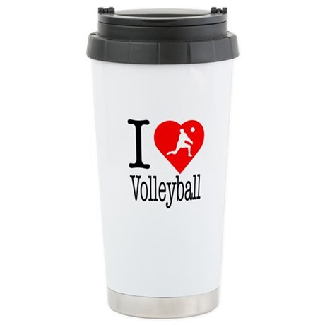 I Love Tennis Stainless Steel Travel Mug
