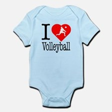 I Love Volleyball Infant Bodysuit