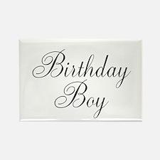 Birthday Boy Black Script Rectangle Magnet