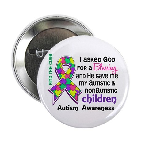 """Blessing 4 Autism 2.25"""" Button (100 pack)"""