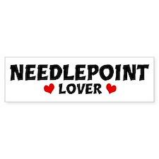 NEEDLEPOINT Lover Bumper Bumper Sticker