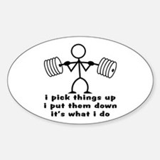 Stick Figure Body Builder Decal