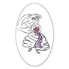 Bride Gown Oval Decal