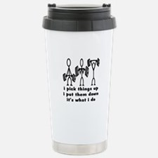 Stick Figure Body Builders Stainless Steel Travel