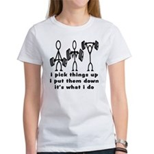 Stick Figure Body Builders Tee