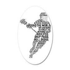 Lacrosse LAX Player Wall Decal