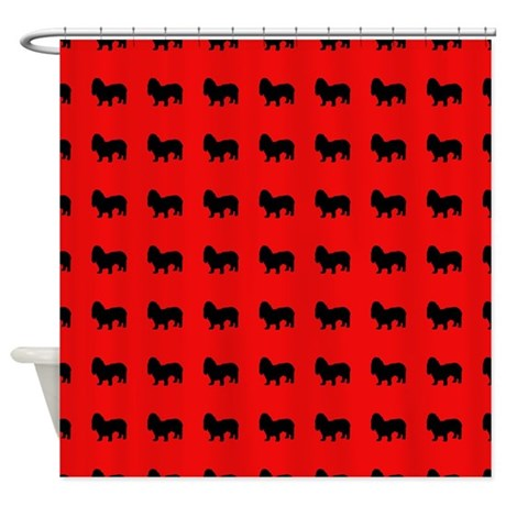 Droopy Eared Dog Pattern Shower Curtain