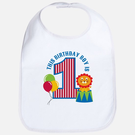 Circus 1st Birthday Bib