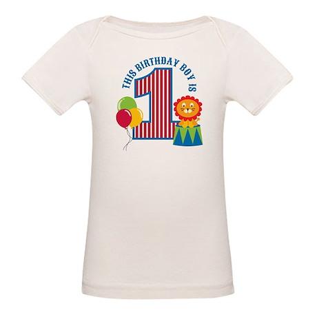 Circus 1st Birthday Organic Baby T-Shirt