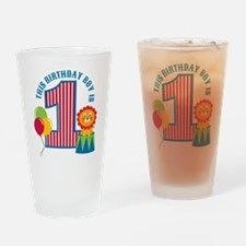 Circus 1st Birthday Drinking Glass