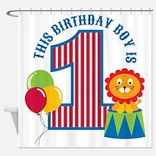 Circus 1st Birthday Shower Curtain
