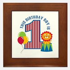 Circus 1st Birthday Framed Tile