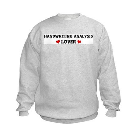 HANDWRITING ANALYSIS Lover Kids Sweatshirt
