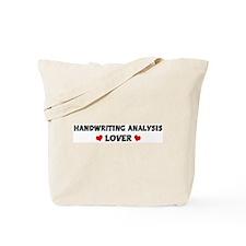 HANDWRITING ANALYSIS Lover Tote Bag