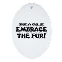 Beagle Ornament (Oval)