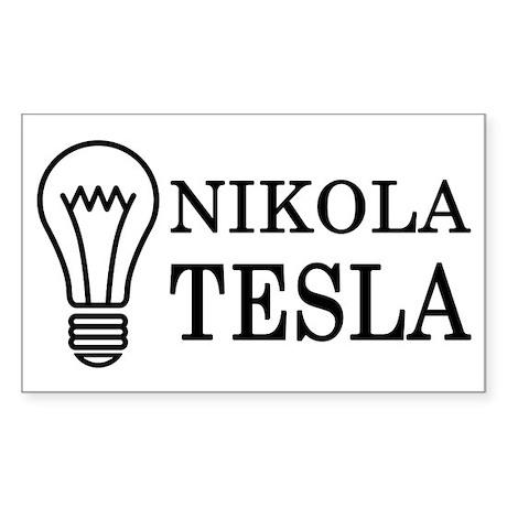 Nikola Tesla Sticker (Rectangle)