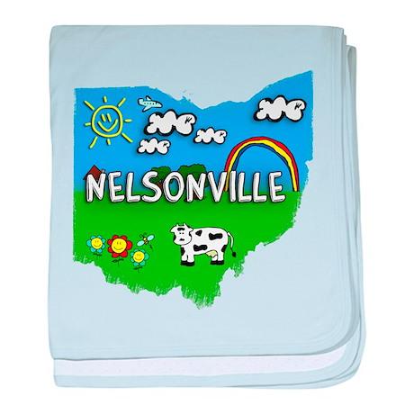 Nelsonville, Ohio. Kid Themed baby blanket