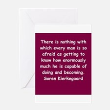 kierkegaard Greeting Card
