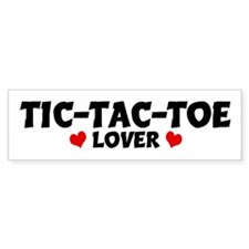 TIC-TAC-TOE Lover Bumper Bumper Sticker