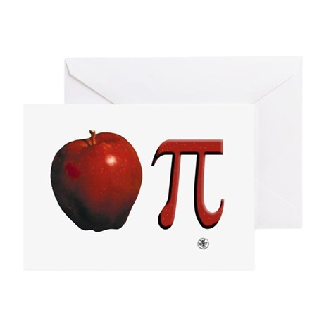 Apple Pi Greeting Cards (Pk of 10)