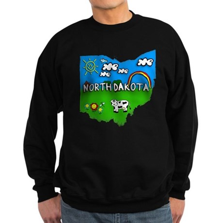 North Dakota, Ohio. Kid Themed Sweatshirt (dark)