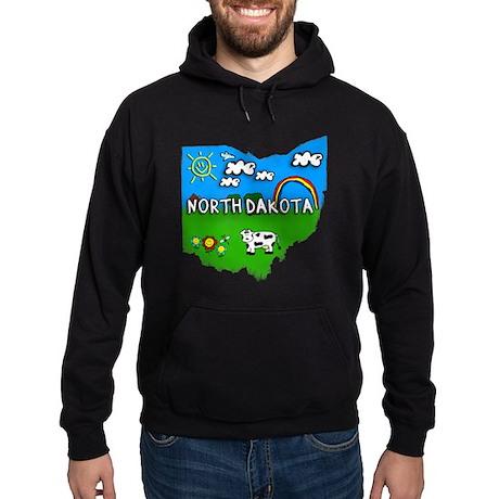 North Dakota, Ohio. Kid Themed Hoodie (dark)