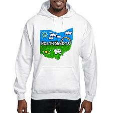 North Dakota, Ohio. Kid Themed Hoodie