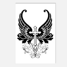 CROSS WITH WINGS Postcards (Package of 8)