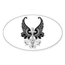 CROSS WITH WINGS Decal