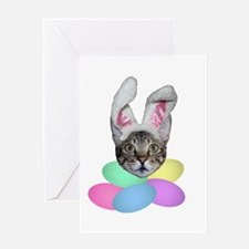 Easter Cat Greeting Card