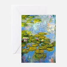 Monet - Water Lilies 1919 Greeting Card