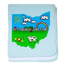 Pittsburgh Junction, Ohio. Kid Themed baby blanket