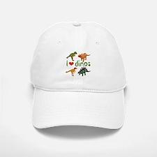 I Love Dinos Baseball Baseball Cap