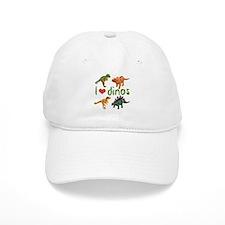 I Love Dinos Baseball Cap