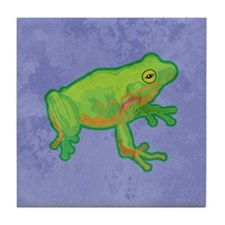 Green Tree Frog Tile Coaster