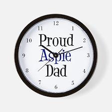 Proud Aspie Dad Wall Clock