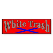 White Trash Bumper Bumper Sticker