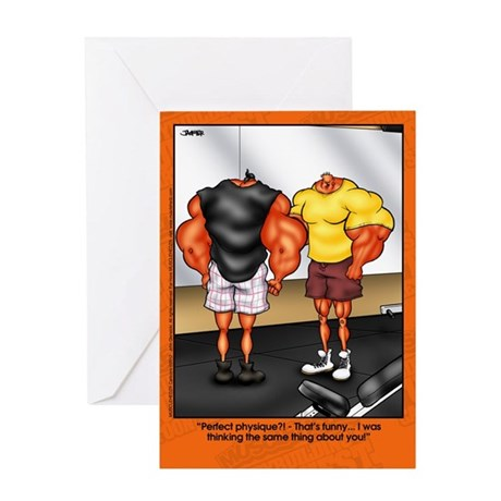 Perfect Physique - Greeting Card