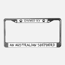Owned by Australian Shepherd License Plate Frame