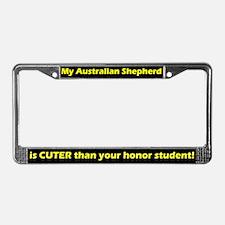 Honor Student Australian Shep License Plate Frame
