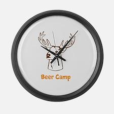 Beer Camp Large Wall Clock