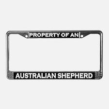 Property of Australian Shepherd License Frame