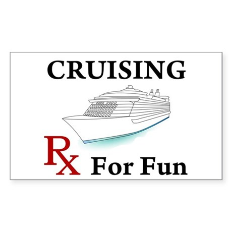 Cruising... Rx for Fun Sticker (Rectangle)
