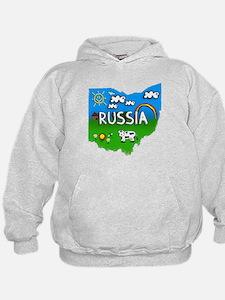 Russia, Ohio. Kid Themed Hoodie