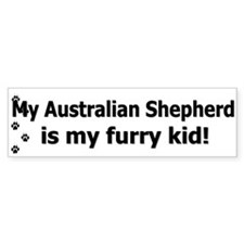 Australian Shepherd Furry Kid Bumper Bumper Sticker