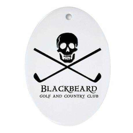 Blackbeard Golf Country Club Oval Ornament