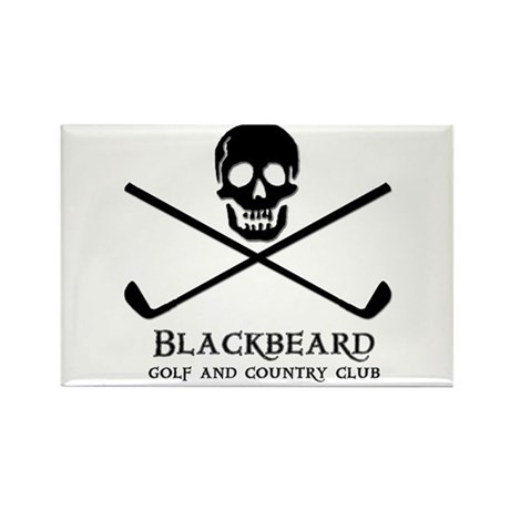 Blackbeard Golf Country Club Rectangle Magnet (10