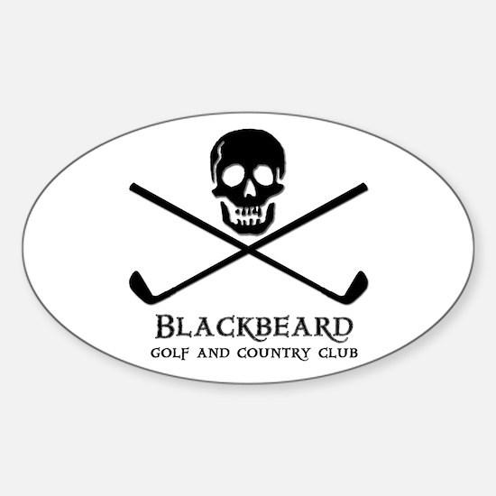 Blackbeard Golf Country Club Oval Decal