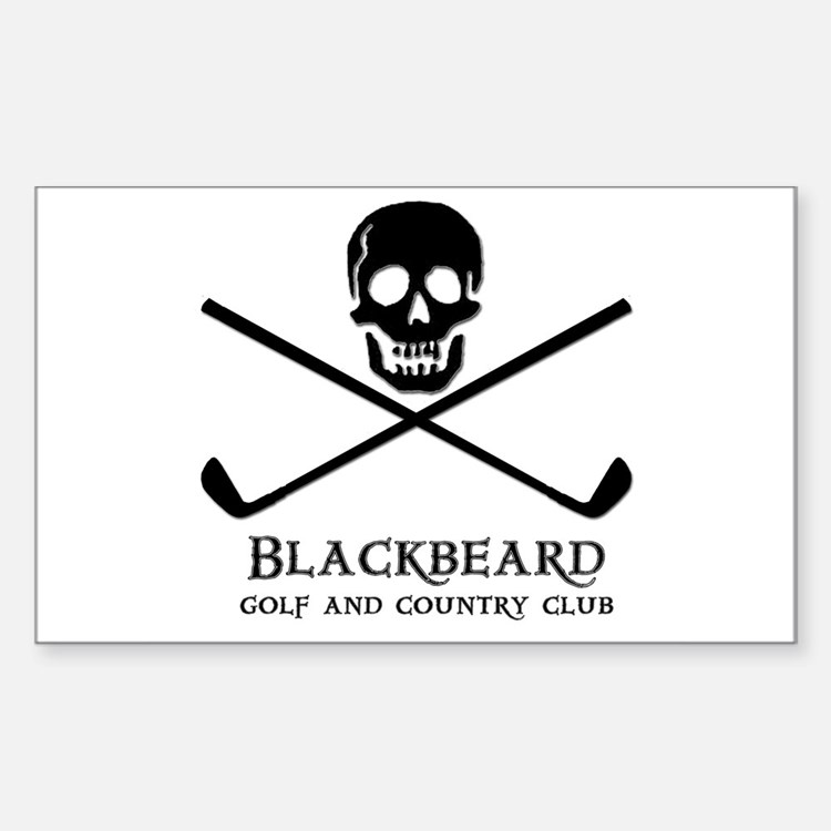 Blackbeard Golf Country Club Rectangle Decal